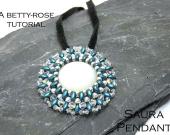 Tutorial for Saura Pendant made with SuperDuo beads Instant Download PDF Beading Pattern