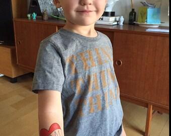 Kids Heart Tattoo Funny Gift For Mom Temporary Vintage Americana Children Dress