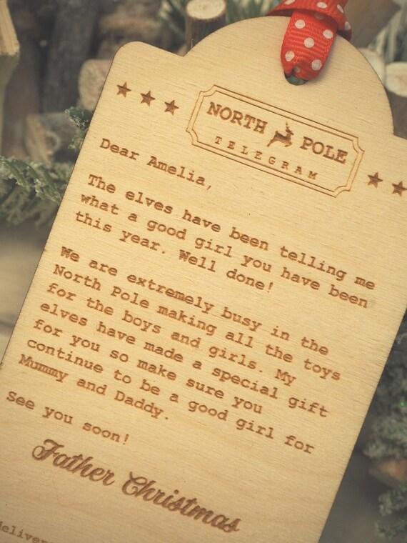 Personalised north pole telegram nice list letter from santa personalised north pole telegram nice list letter from santa father christmas christmas gift present decoration spiritdancerdesigns Choice Image