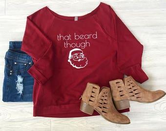Santa Beard sweatshirt