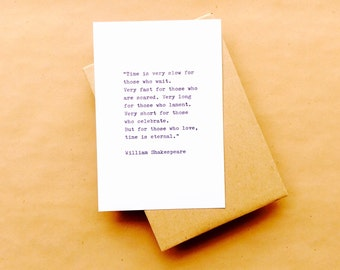 Shakespeare Love Typewriter Quote 4x6