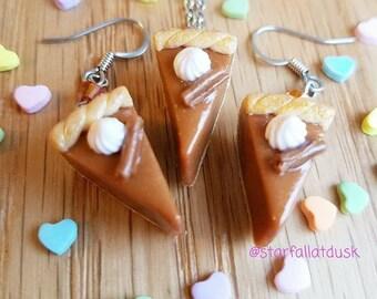 Pie Slice Miniature Food Earrings
