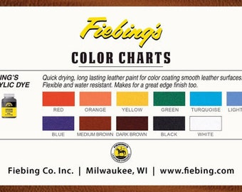 Fiebing's Acrylic Leather Dye - 2oz/59ml - 11 colors Leather Paint - Water Resistant - Dye for Leather