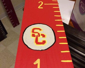 Customizable  College themed Wooden growth chart/growth chart/home decor/farmhouse decor/growth chart ruler/baby shower gift/rustic/college