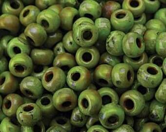 Matte Picasso Chartreuse Miyuki Seed Bead 6/0 20G Tube 6-94515-TB