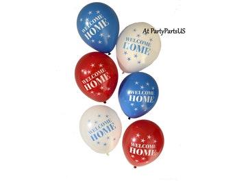 Bienvenue ballons maison, décorations patriotiques, parti militaire de retour aux sources, déploiement retour, Bienvenue à la maison, rouge blanc et bleu, des anciens combattants, héros