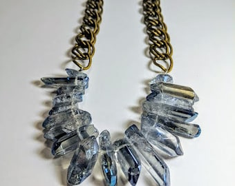 arctic crystal statement necklace