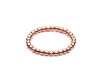 Ball closure rings Elastsich • mini • Rosé gold