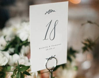 Table Number Template, Printable Wedding Table Number,Rustic Wedding Table | Edit in Word or Pages