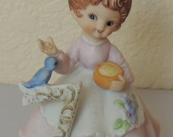 1980s Kelvin 7th Birthday Girl with Bluebird