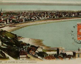 Vintage French Postcard - Le Havre & Sainte-Adresse, France