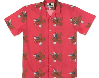 Men's Shirt - George Washington Riding Eagle, Hawaiian Shirt