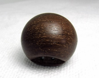 "Big, Round, Wood: 1-1/4"" (31mm) Solid Wood Ball Button ~ Vintage"