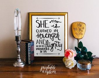 Instant download bible verse printable scripture calligraphy