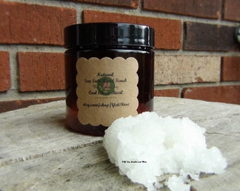 4oz Natural Sea Salt Scrub. Assorted Scent to Choose. Made to Order