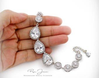 Wedding Bracelet Zirconia Bracelet Wedding Jewelry Bridal Bracelet Bridesmaid Bracelet Bride Bracelet Wedding Accessory Bridal Jewelry