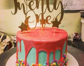 21st birthday cake topper, 21st birthday decorations, 21st birthday, 21, Birthday, Birthday Decorations, twenty first birthday cake topper