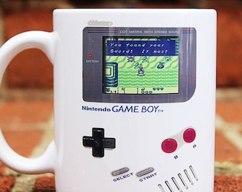 Nintendo, Game Boy, Legend Of Zelda, Pokemon, Tetris, Gameboy Coffee Mug