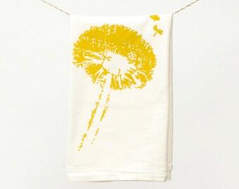 Dandelion Towel : Flour Sack Kitchen Tea Towel for the Home
