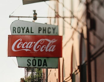 French Quarter Royal Pharmacy Photograph, New Orleans Photography, New Orleans Art, Home Decor, 8x10, 11x14, 16x20, 20x24, 24,30, 24x36+
