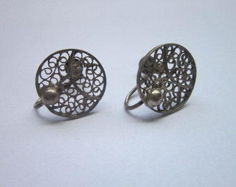 Sweet Antique Filigree Earrings