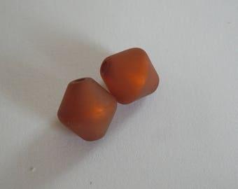 2 Polaris 10 mm smoked topaz bicones