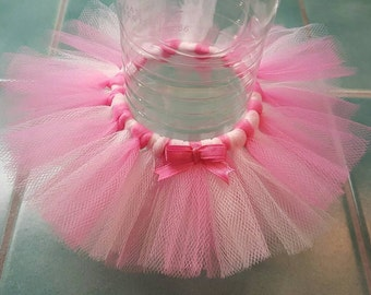 BOTTLE TUTU Princess Party Favor* Birthday ballerina decoration Pink Baby Shower Wedding bridal girl Sweet 16 quinceanera tulle skirt cancer
