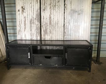 Low 5thdeco steel industrial style tv Cabinet