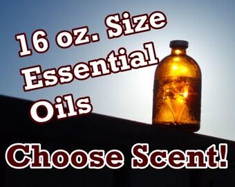 BULK ESSENTIAL OILS (16 oz size) Choose Scent! Organic - Full Strength - Aromatherapy, Therapeutic Grade