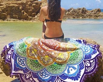 Beautiful Colourful Beach Towel Yoga Mat
