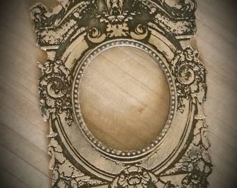 Miniature Dollhouse Antique Style Ornate Deep Set Gilt Baroque Picture or mirror Frame 1:12 Scale Finished or Unfinished