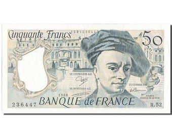 france 50 francs 50 f 1976-1992 ''quentin de la tour'' 1988 km #152d...