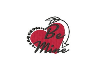 Be Mine Machine Embroidery Design