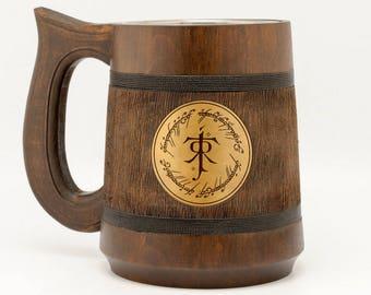 The One Ring mug 23Oz, Lord of the Rings gift, Hobbit mug, Frodo Bilbo Baggins, My Precious tankard, Tolkien gifts, LOTR Gift