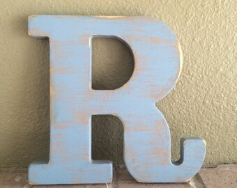 """14"""" Rustic Wooden letter Shaby chic rustic letter Personalized wooden letter Distressed wooden letter"""