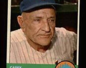 CASEY STENGEL 1963 Mets Manager Topps #233 Baseball Card VG+ Guaranteed Genuine