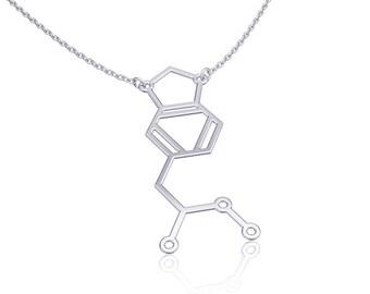 molecule necklace mdma-Sterling Silver necklace, chemistry jewelry, chemistry necklace, science jewelry modern silver jewelry