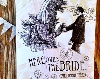 Bridezilla Card. Card for bride. wedding card for friend.