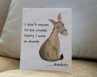 Sad Donkey