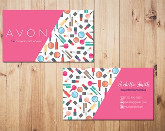 Personalized avon business cards custom avon business make personalized avon business cards custom avon business make up business card custom business reheart Image collections