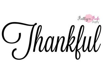 Iron On Vinyl Thankful Decal - DIY Iron On Patch- Vinyl Patch-Iron On Letter Transfer- DIY Heat Transfer