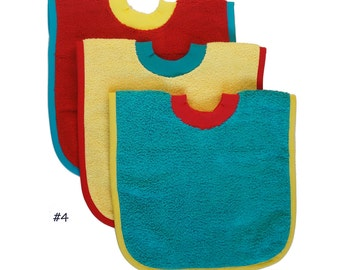 Pullover Baby to Toddler Bibs -- Set of Three -- Set 4