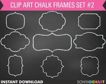 80% OFF SALE Chalk Frame Clipart, Chalkboard Frames, Frame Clip Art, Chalkboard Clipart, Chalkboard Graphics, Digital Frames, Chalk Frames