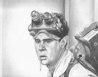 Ray Stantz - Ghostbusters (Dan Aykroyd) Drawing Print