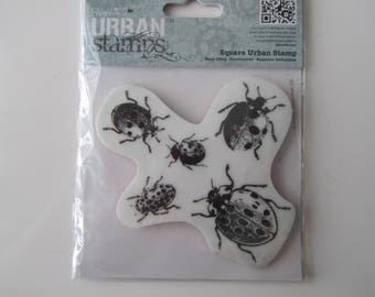 Stamp foam and rubber on the theme of ladybugs