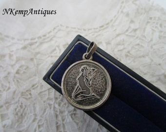 Real silver virgo pendant