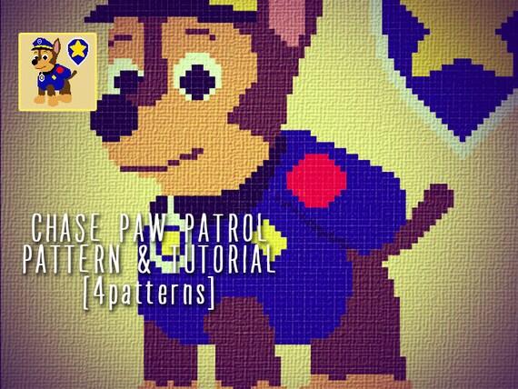 Chase Paw Patrol Blanket Corner To Corner Crochet Pattern And