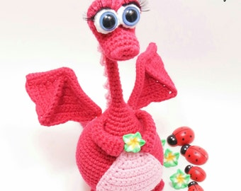 Pattern Dragon, amigurumi crochet pattern, crochet dragon pattern, amigurumi PDF pattern, dragon pattern, Instant download