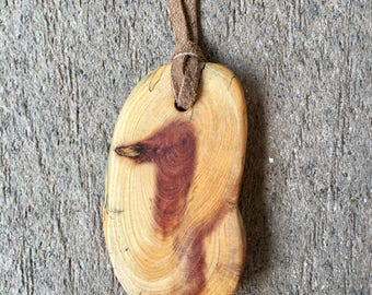 Juniper Wood Pendant Necklace