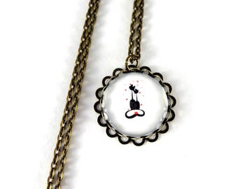 Necklace cat lover cabochon